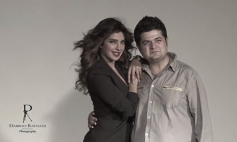 Dabboo Ratnani with Priyanka Chopra on the sets of calender 2014 photoshoot