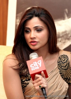 Daisy Shah during the Jai Ho film promotion at Dubai