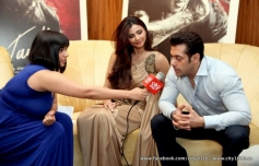 Daisy Shah and Salman Khan media interaction during the Jai Ho film promotion at Dubai