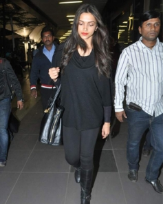 Deepika Padukone snapped at the airport returning from New York.