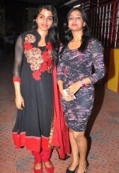 Dhansika and Varsha Ashwati poses at the Alandur Fine Arts Awards