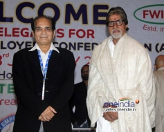 Dharmesh Tiwari and Amitabh Bachchan at the All India Film Employees Confederation event