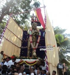 Inauguration of 14.5 Feet Dr Rajkumar's Statue