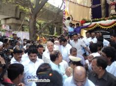 Sa Ra Govind, R Ashok, & Ramalinga Reddy at Dr Rajkumar's Statue Inauguration