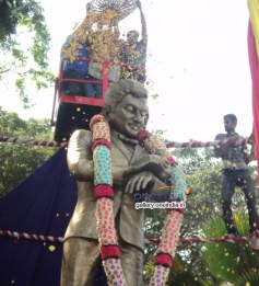 Inguration of Dr, Rajkumar Statue made by Brass