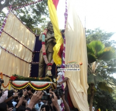 Dr Rajkumar's Statue Inaugurated in South End Circle
