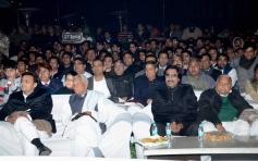Etawah: Samajwadi Party chief Mulayam Singh Yadav, UP CM Akhilesh Yadav and others at Saifai Mahotsa