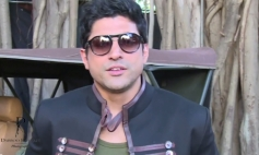 Farhan Akhtar still from Dabboo Ratnani 2014 Calendar photoshoot behind the scenes