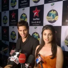 Hasee Toh Phasee film promotion on the set of Nach Baliye 6