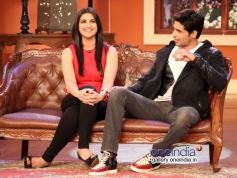 Sidharth Malhotra and Parineeti Chopra on the sets of Comedy Nights with Kapil