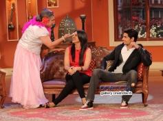 Ali Sagar with Parineeti Chopra and Sidharth Malhotra during the film Hasee Toh Phasee promotion