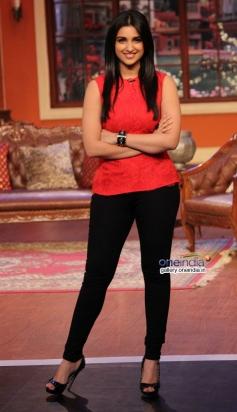 Parineeti Chopra on the sets of Comedy Nights with Kapil