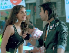 Hasleen Kaur and Shiv Darshan still from film Karle Pyaar Karle