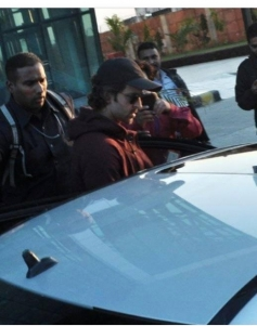 Hrithik Roshan arrive to attend a wedding in Udaipur