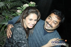 Huma Qureshi and Anurag Kashyap at the special screening of American Hustle