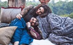 Huma Qureshi and Arshad Warsi romantic still from film Dedh Ishqiya