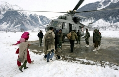Indian air force rescue the villagers