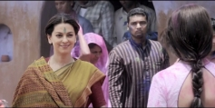 Juhi Chawla and Madhuri Dixit still from film Gulaab Gang