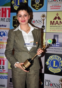 Kainaat Arora won the award during the 20th Lions Gold Awards 2014