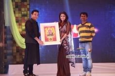 Kamal Haasan, Nayantara and Murugadoss at the Raja Rani film 100 days celebration