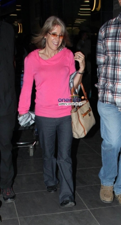 Katrina Kaif mother Suzanne Turquotte snapped outside airport