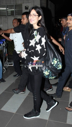 Katrina Kaif snapped outside airport