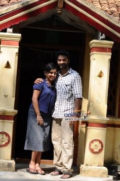 Leelma and Vinod Kishan still from film Yazh