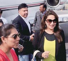 Madhuri Dixit arrive Lucknow for Saifai Mahotsav