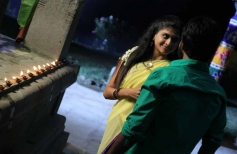 Mridula Bhaskar and Maruthi still from film Marumunai
