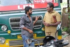 Maruthi and MS Bhaskar still from film Marumunai