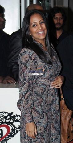 Meghna Naidu snapped at a bar launch