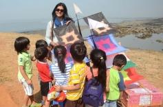 Nandita Das during the 26th edition of International Kite festival