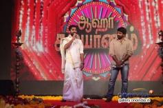 Nani and Vijay Sethupathi at the film Aaha Kalyanam audio launch