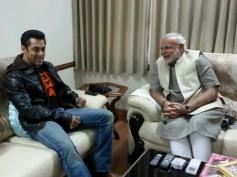 Narendra Modi with Salman Khan during a meeting in Ahmedabad