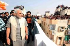 Narendra Modi with Salman Khan during the Uttarayan Festival in Ahmedabad