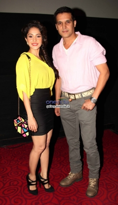 Nushrat Bharucha and Jimmy Sheirgill during the first look of film Darr @ The Mall