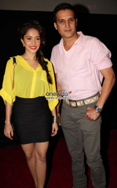 Nushrat Bharucha and Jimmy Shergill at the first look of film Darr @ The Mall