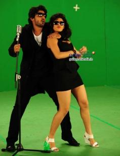 Prajwal Devaraj and Sonu Chabra in Kannada Movie Savaal