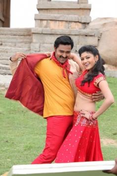 Prasanna and Oviya Helen still from film Pulivaal