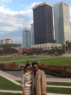 Priyanka Chopra and Anil Kapoor during the IIFA Press conference 2014 at Tampa Bay