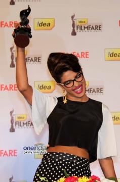 Priyanka Chopra poses during the press conference of 59th Idea Filmfare Awards 2013
