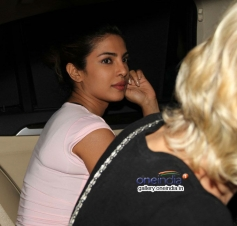 Priyanka Chopra snapped in Bandra at Olive