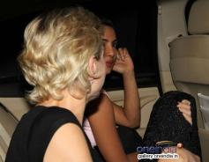 Priyanka Chopra snapped in her car at outside Olive
