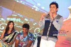 Puneet Rajkumar, Erica Fernandes, Shivrajkumar at Ninnindhale Audio Release