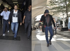 Raj Kundra and Madhavan snapped at Airport