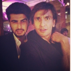 Ranveer Singh along with Arjun Kapoor at the Ali Abbas Zafar's birthday bash