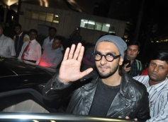 Ranveer Singh snapped at the airport returning from New York