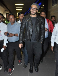 Ranveer Singh were snapped at the airport returning from New York