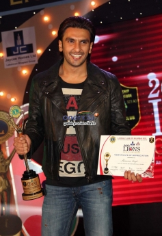 Ranveer Singh won the award during the 20th Lions Gold Awards 2014