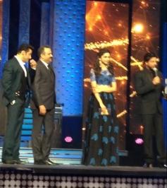 Salman Khan, Deepika Padukone and Shahrukh Khan at the Renault Star Guild Awards 2014